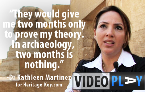 Dr Kathleen Martinez's is leading an excavation to find the Tomb of Cleopatra. Click image to skip to the video.