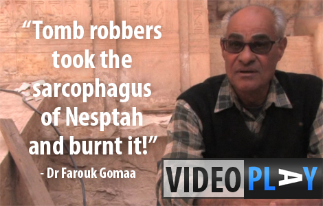 Dr Farouk Gomaa talks about his search for the Tomb of Montuemhat. Click the image to skip to the video.
