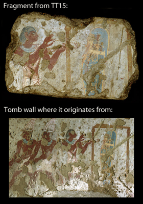 Fragment of TT15 - Tetiky's Tomb - that ended up in the Louvre Collection.