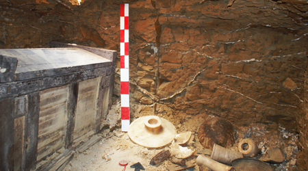 Funeral Equipment and Sarcophagus found