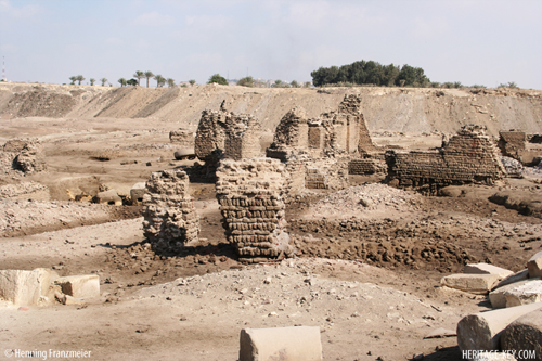 The remains of a mud-brick house. Image by Henning Franzmeier