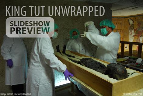 King Tut Unwrapped - DNA sampling