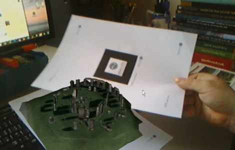 Still from the Stonehenge Augmented Reality test by Digital Digging