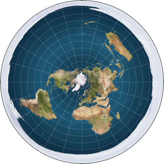 the world map round. Just look at the world map: