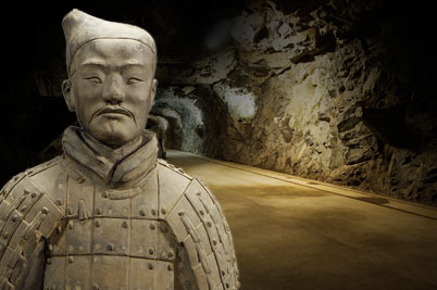 Terracotta Warriors will go on display in a cave under the Ostasiastiska Museet