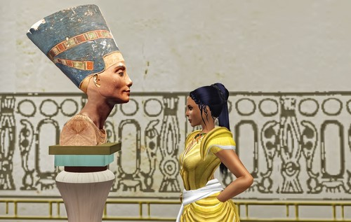 Get up close and personal with the Bust of Nefertiti in Heritage Key Virtual's new Amarna! Image by Meral Crifasi
