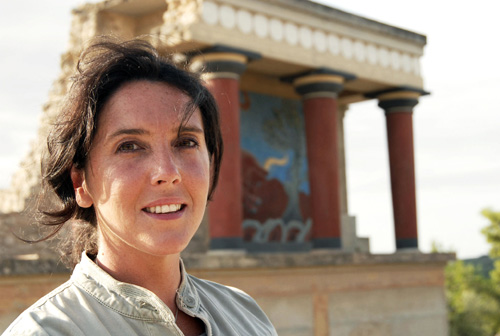 Expect to see Bettany Hughes visit the Knossos Palace at Crete in 'Atlantis, The Evidence'. Airs Wednesday June 2 2010 at 9pm on BBC Two
