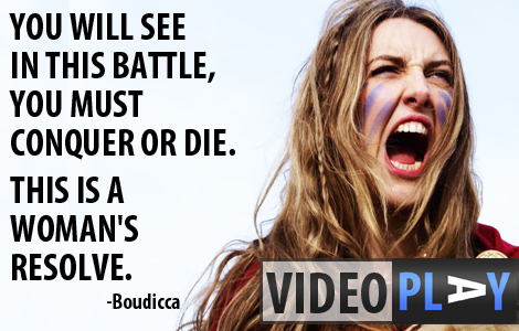 Boudicca led the Iceni tribe of Britain to a bloodthirsty rampage, destroying Colchester, London and St Albans to the ground. Click the image to skip to the video.