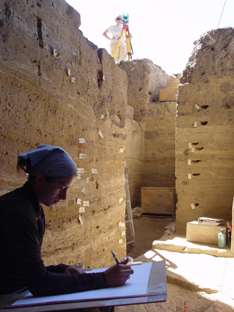 Holly Raymond also worked on the excavation as a master's student. She now works at a private archaeology firm.