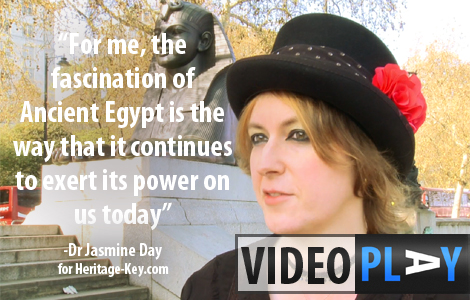Dr Jasmine Day takes Nicole Favish on a tour of London, looking at how Ancient Egypt has influenced the city. Click the image to skip to the video