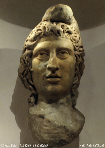 The Head of Mithras, at the Museum of London. Image Credit - Prad Patel.