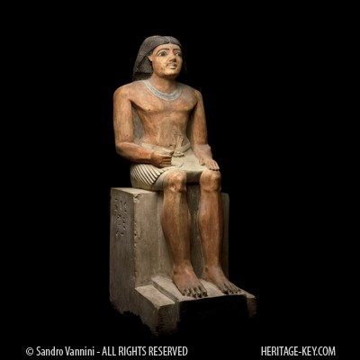 statue of inty shedu found at the cemetery of the pyramid builders