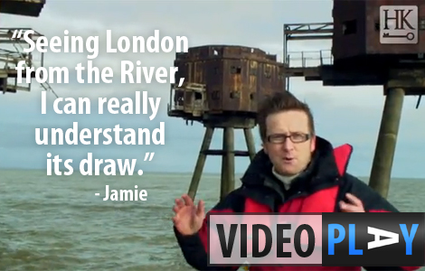 Follow Jamie's adventure through the Thames Estuary as he learns about London's defences through the ages - Click to skip to the video!