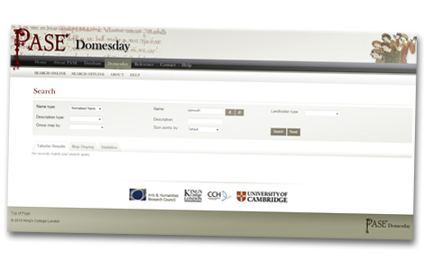 PASE Domesday online database