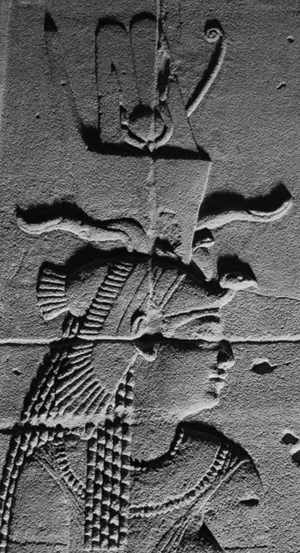 A relief depicting Queen Arsinoe II at the Philae-temple in Aswan. - Photograph by Maria Nilsson
