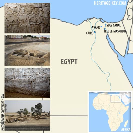 Map of Avaris Cairo TEll el-maskhuta, ismalia suez canal