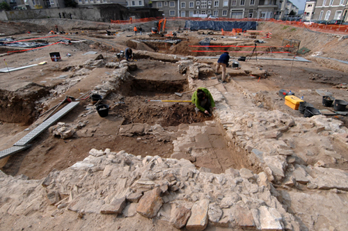 Excavations executed by INRAP have revealed a Roman urban area and Mithraeum at Angers, France - Image Copyright Herv Paitier INRAP