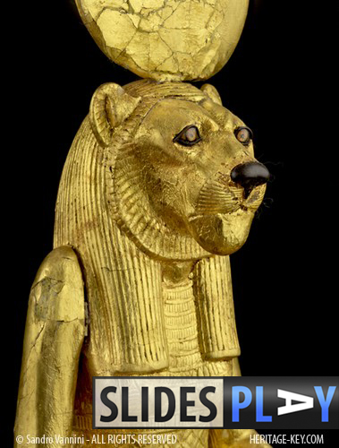 The Ritual Figure of Sekhmet was found in King Tutankhamun's tomb (KV62) by Howard Carter. Click the image to skip to the slideshow. Image Copyright - Sandro Vannini.