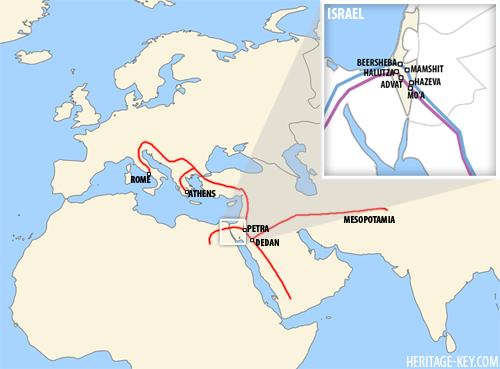 The Spice Route through Arabia - Click the image to view a larger version.