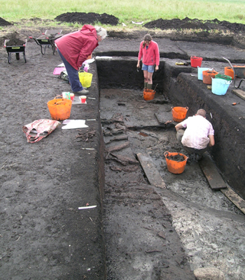Stone Age remains at the Starr Carr excavations.