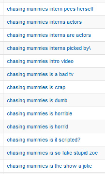 Search queries for 'chasing mummies'